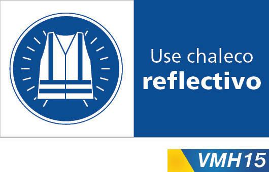 Señales de obligacion use chaleco reflectivo