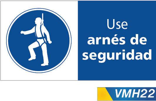 Señales de obligacion use arnes de seguridad