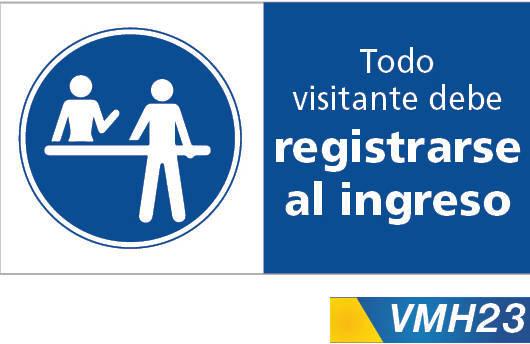 Señales de obligacion registrese al ingresar