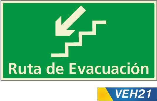 señales de evacuación escaleras izquierda
