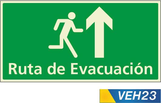 señales de evacuación arriba