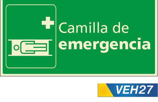 Señales de emergencias camilla de emergencia