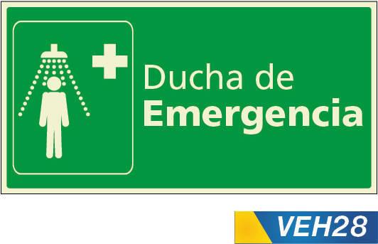 Señales de emergencias ducha de emergencia