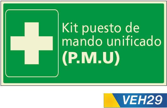 Señales de emergencias kit de mando unificado