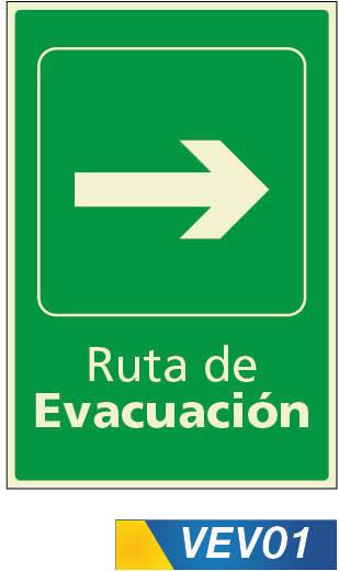 Señales de evacuación derecha
