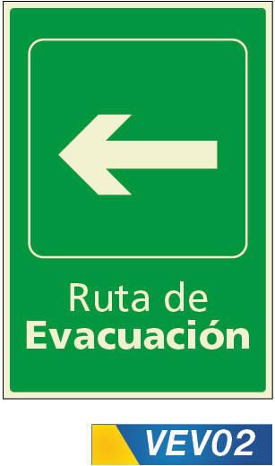 Señales de evacuación izquierda