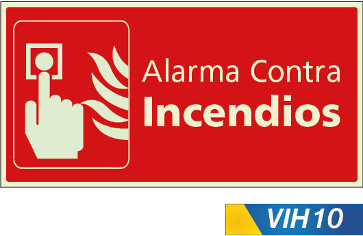 Señales de incendio alarma contra inendio