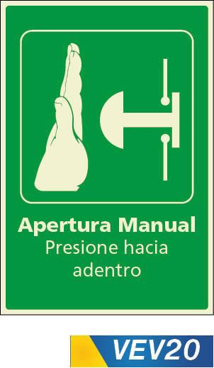 apertura manual