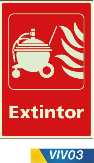Señales de incendio extintor satelital