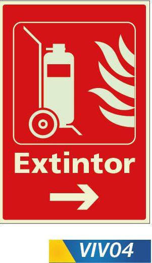Señales de incendio extintor