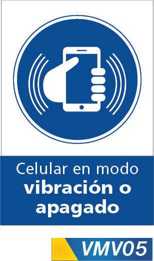 Señales de obligación celular en modo vibracion