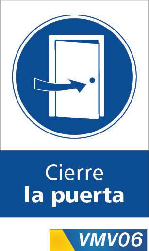 Señales de obligación cierre la puerta