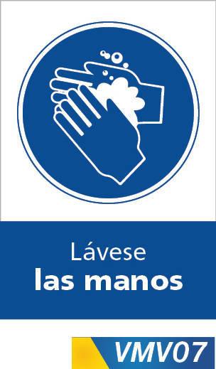 Señales de obligación lavese las manos