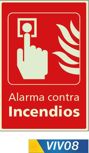 Señales de incendio alarma contra incendio