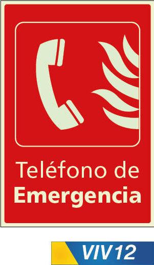 Señales de incendio telefono de emergencia