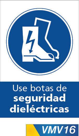 Señales de obligación use botas de seguridad