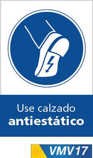 Señales de obligación use calzado antiestatico