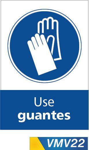 Señales de obligación use guantes