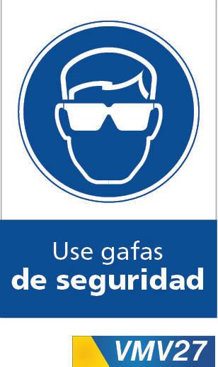 Señales de obligación use gafas