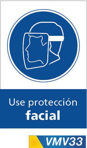 Señales de obligación use proteccion facial