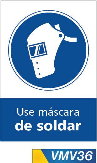 Señales de obligación use mascara al soldar