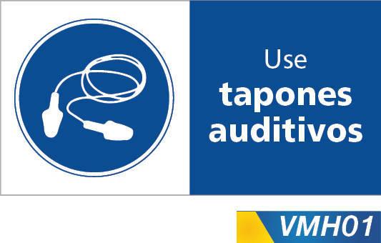 Señales de obligación use tapones auditivos