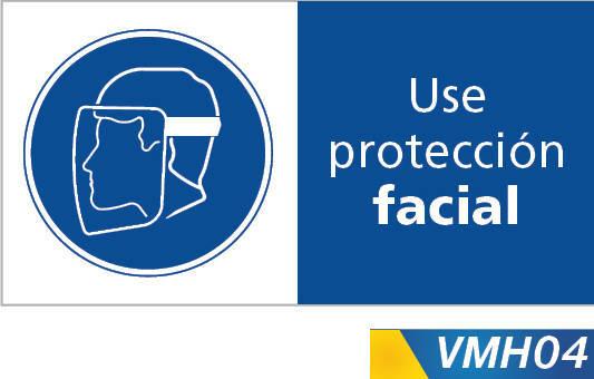 Señales de obligacion use proteccion facial