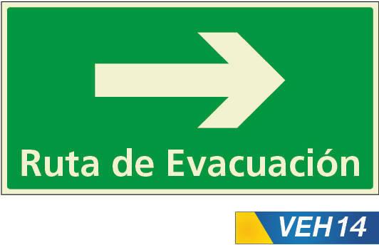 Señales de evacuacion derecha