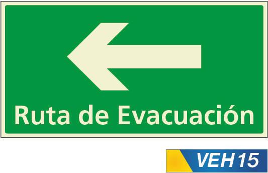 Señales de evacuacion izquierda