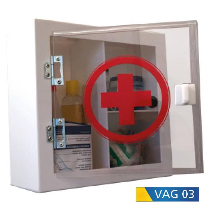 Gabinete de primeros auxilios en acrílico