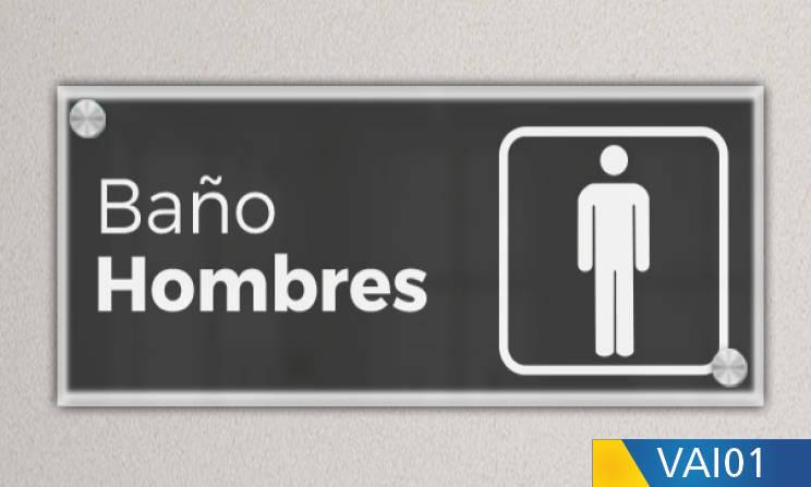 señalética baño hombres