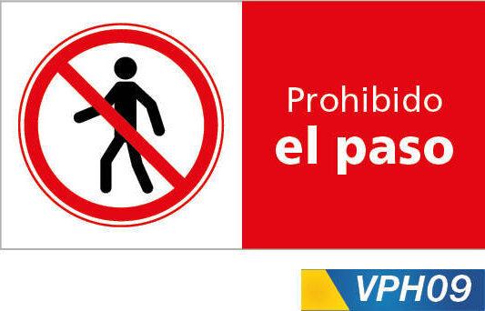 Señales de prohibición, prohibido el paso