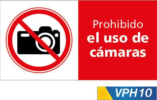 Señales de prohibición, prohibido el uso de camaras