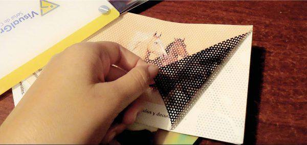 Impresion a gran formato sobre vinilo microperforado