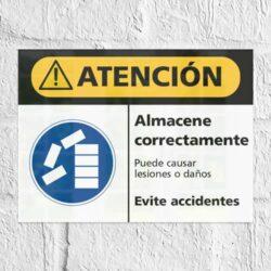 Señal Precaución Almacene Correctamente