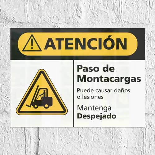 Señal Precaución Paso de Montacargas