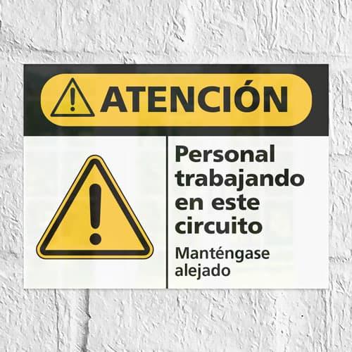 Señal Precaución No Transportar Personas