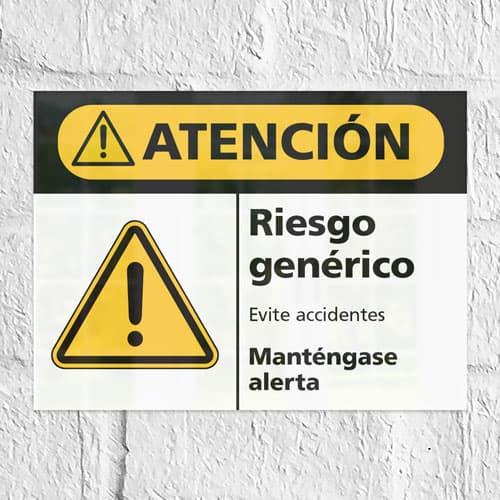 Señal Precaución Riesgo Genérico