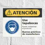 Señales de Atención ISO ANSI Señal Precaución Use Tapabocas