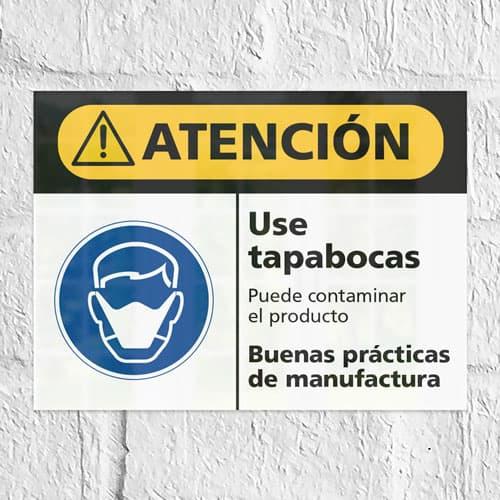 Señales de atención ISO ANSI