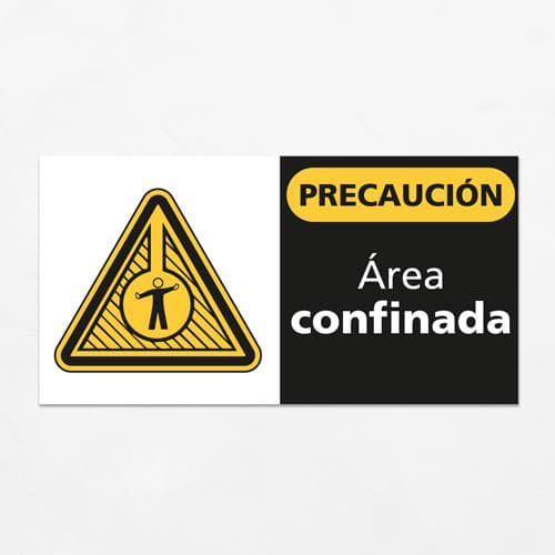 Señal Precaución Área Confinada H