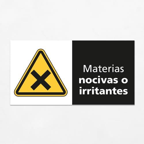 Señal Precaución Materias Nocivas o Irritantes H