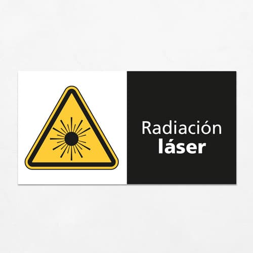 Señal Precaución Radiación Láser H