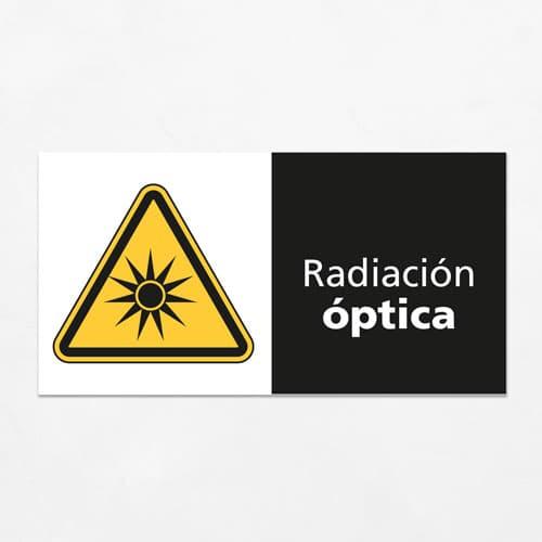 Señal Precaución Radiación Óptica H