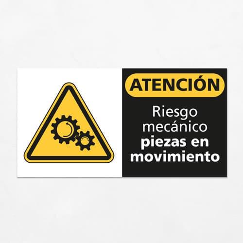 Señal Precaución Riesgo Mecánico Piezas en Movimiento H