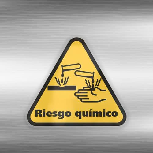 Señal Adhesiva Riesgo Químico