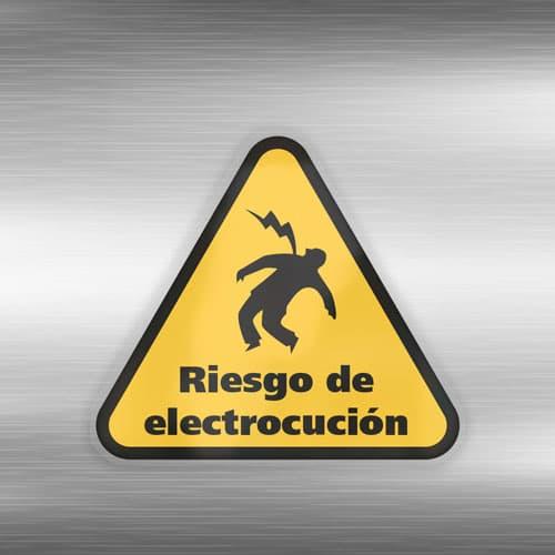 Señal Adhesiva Riesgo de Electrocución