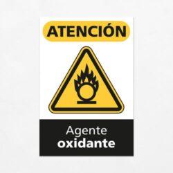 Señal Precaución Agente Oxidante V