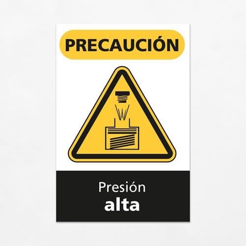 Señal Precaución Presión Alta V