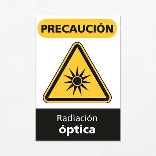 Señal Precaución Radiación Óptica V